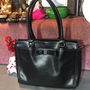Authentic leather Kate Spade tote bag